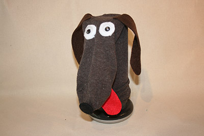 sock puppet sausage dog