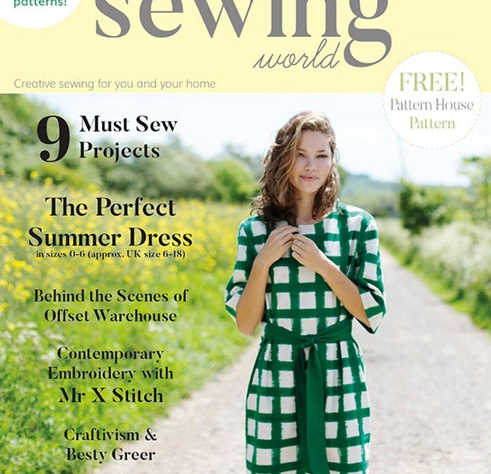 Sew Fabulous's debut article in August Sewing World Magazine